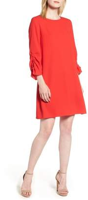 Halogen Ruched Sleeve Swing Dress (Regular & Petite)