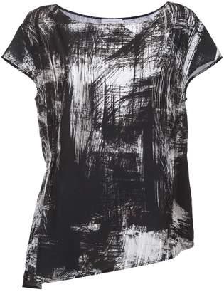 M·A·C Mara Mac asymmetric printed blouse