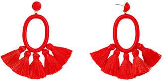 BaubleBar Tassel Oval Hoop Earrings 36993