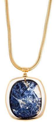 Tory Burch Sodalite Pendant Necklace