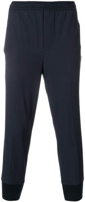 Neil Barrett cropped tapered track pants