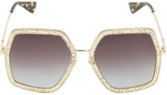 Gucci (グッチ) - GUCCI オーバーサイズ オクタゴンサングラス