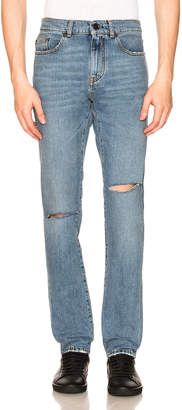 Saint Laurent Slim Ripped Jeans
