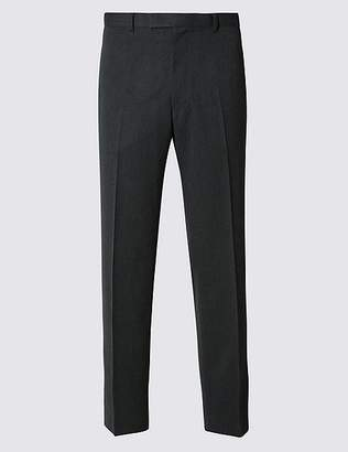 Marks and Spencer Big & Tall Grey Regular Fit Trousers