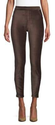 Hue High-Rise Corduroy Cropped Leggings