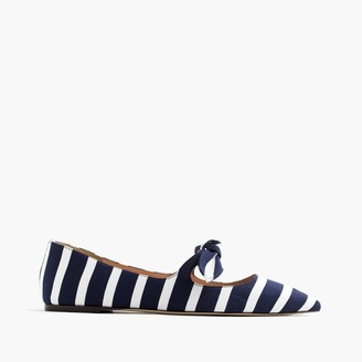 Striped tie-front flats $148 thestylecure.com