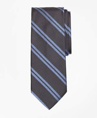 Brooks Brothers Textured Heathered Double Stripe Tie