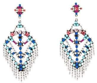 Dannijo Resin & Crystal Chandelier Earrings