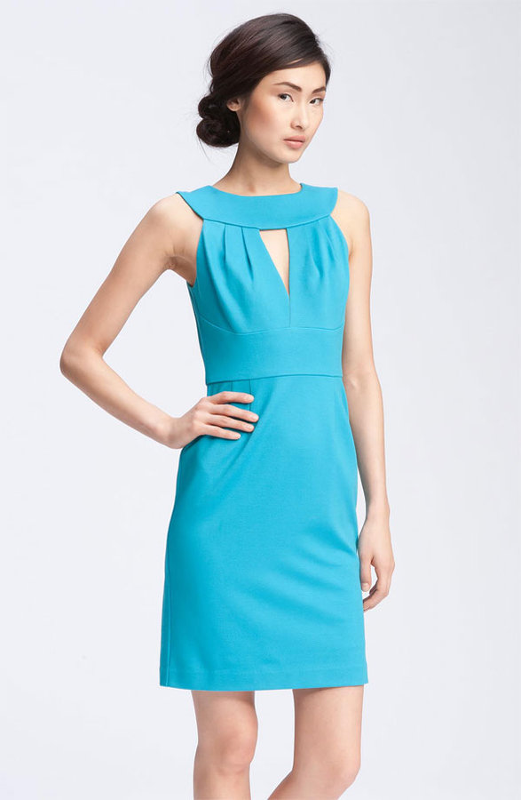 Trina Turk 'Caspian' Plunge Keyhole Neck Dress