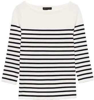 Banana Republic Stripe Boat-Neck Sweater