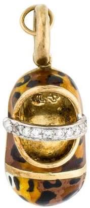 Aaron Basha 18K Diamond Leopard Shoe Charm
