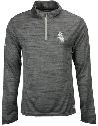 Dynasty Men's Chicago White Sox Poly Twist Mock Quarter-Zip Pullover