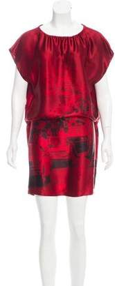 Nili Lotan Printed Silk Dress