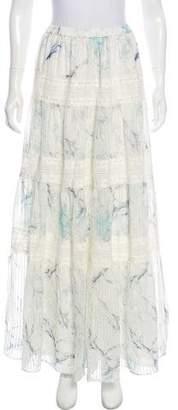 Marchesa Voyage Floral Print Silk Skirt w/ Tags