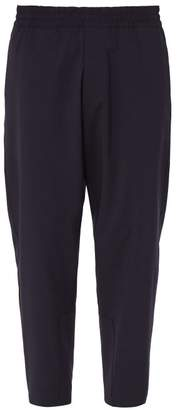 Prada Relaxed Fit Virgin Wool Trousers - Mens - Blue