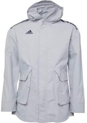 adidas Mens Tango Future All-Weather Long Jacket Grey Two