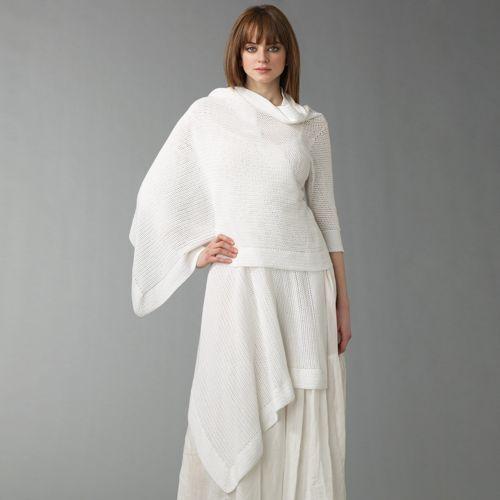 DKNY Draped Cotton Cardigan