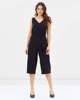 Dorothy Perkins Tassel Belt Wrap Jumpsuit