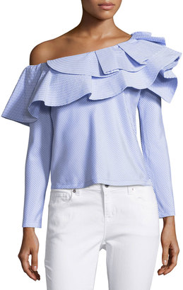 Luxe by Stylekeepers Think Fashion Ruffled Blouse $89 thestylecure.com