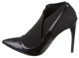Christian Dior Leather Pointed-Toe Booties