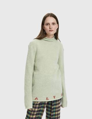 Aalto Graphic Rollneck Mohair Sweater