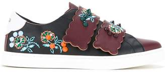 Fendi floral patch sneakers