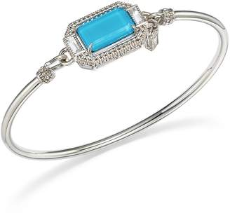Judith Ripka Sterling Silver Avery Doublet Bangle with Rock Crystal