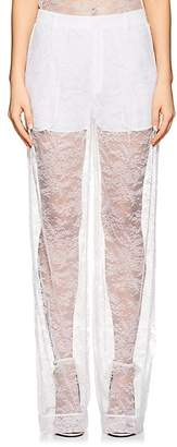 Givenchy Women's Lace Wide-Leg Pants
