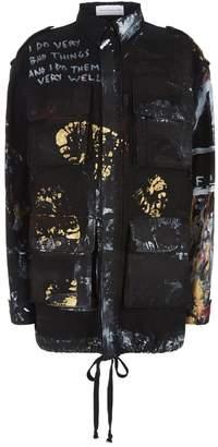 Faith Connexion Painted Graffiti Jacket