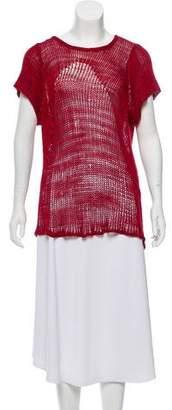 Helmut Lang Short Sleeve Knit Top