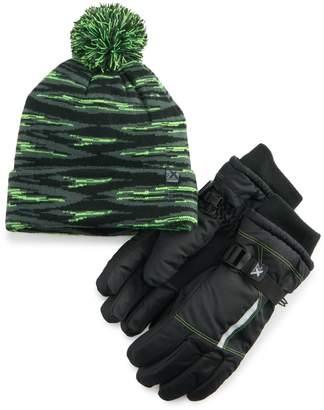 ZeroXposur Boys 4-20 Hat & Gloves Set