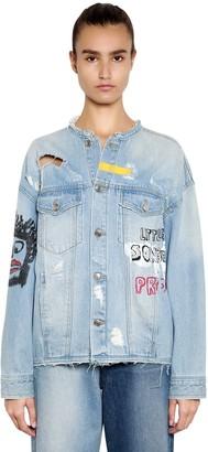 Sjyp Oversize Hand-Painted Denim Jacket