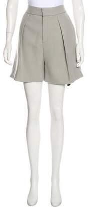 Chloé Wool High-Rise Shorts