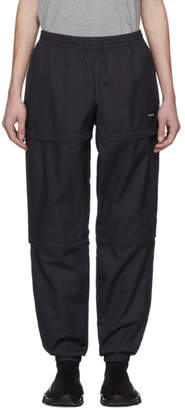 Balenciaga Black Nylon Zipped Track Pants
