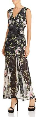 GUESS Nadira Sleeveless Metallic Floral-Print Maxi Dress