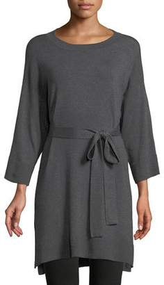 Eileen Fisher 3/4-Sleeve Cozy Stretch Tencel Tunic w/ Belt, Petite