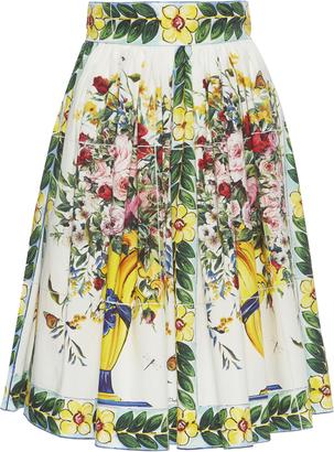 Dolce & Gabbana Floral-Print Cotton Skirt $845 thestylecure.com
