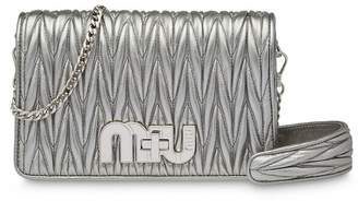 Miu Miu Délice Miu Logo matelassé leather bag