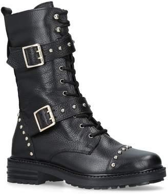1b780de76429 Kurt Geiger London Leather Sting Biker Boots