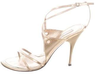 Cesare Paciotti Metallic Crossover Sandals