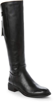 ebeff9303e2 Franco Sarto Black Stacked Heel Women s Boots - ShopStyle