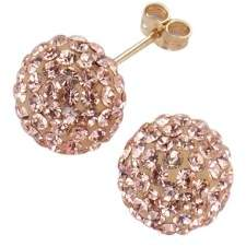 Evoke Gold'n'Ice 269320002LK-4 Ear Studs Yellow Gold 375 with Swarovski Crystals