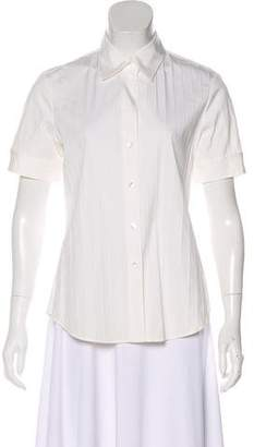 Theory Short Sleeve Button-Up Top