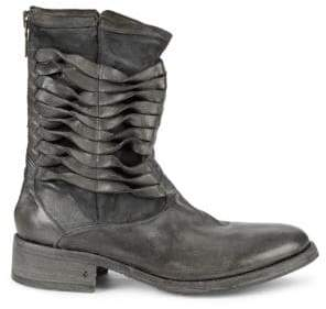 John Varvatos Simmons Twisted Pavement Leather Boots