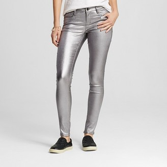 Dollhouse Women's Silver Metallic Skinny Pants - Dollhouse (Juniors') $32.99 thestylecure.com