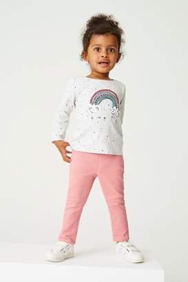 Next Girls Pink Jeggings (3mths-7yrs) - Pink