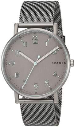 Skagen Men's SKW6354 Signatur Titanium and Steel-Mesh Watch