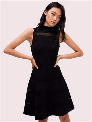 Kate Spade Mesh Panel Sweater Dress, Black - Size L