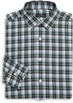 Valentino Men's Printed Cotton Dress Shirt