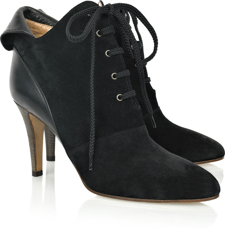 Chloé Suede lace-up boots